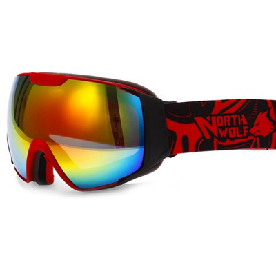 NORTH WOLF NW856 Ski GogglesSki Goggles<br>NORTH WOLF NW856 Ski Goggles<br><br>Brand: NORTH WOLF<br>Features: Anti-UV<br>Gender: Unisex<br>Lens Width: 195mm<br>Lens Height: 95mm<br>Product Weight: 0.200 kg<br>Package Weight: 0.270 kg<br>Product Dimension: 24 x 13 x 10 cm / 9.43 x 5.11 x 3.93 inches<br>Package Contents: 25 x 5 x 11 cm / 9.83 x 1.97 x 4.32 inches<br>Package Contents: 1 x Pair of NORTH WOLF NW856 Ski Goggles, 1 x Goggle Pocket