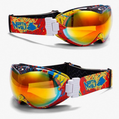 NORTH WOLF NW918 Ski Goggles Double-deck Anti-fogSki Goggles<br>NORTH WOLF NW918 Ski Goggles Double-deck Anti-fog<br><br>Brand: NORTH WOLF<br>Gender: Unisex<br>Lens Width: 195mm<br>Lens Height: 80mm<br>Product Weight: 0.230 kg<br>Package Weight: 0.460 kg<br>Product Dimension: 25 x 13 x 9 cm / 9.83 x 5.11 x 3.54 inches<br>Package Contents: 26 x 5 x 10 cm / 10.22 x 1.97 x 3.93 inches<br>Package Contents: 1 x Pair of NORTH WOLF NW918 Ski Goggles, 1 x Goggle Pocket