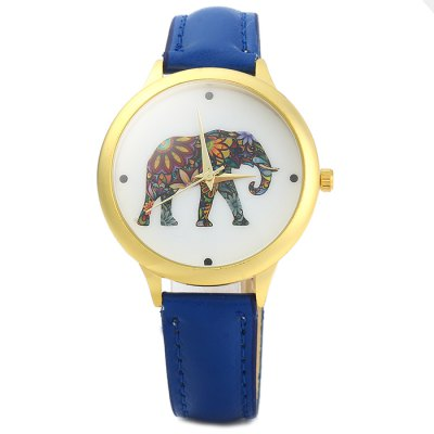 Lady Elephant Quartz WatchWomens Watches<br>Lady Elephant Quartz Watch<br><br>Watches categories: Female table<br>Available color: Black, White, Red, Blue<br>Style : Fashion&amp;Casual<br>Movement type: Quartz watch<br>Shape of the dial: Round<br>Display type: Analog<br>Case material: Stainless steel<br>Band material: Leather<br>Clasp type: Pin buckle<br>The dial thickness: 0.7 cm / 0.28 inches<br>The dial diameter: 3.8 cm / 1.49 inches<br>The band width: 1.5 cm / 0.59 inches<br>Wearable length: 17 - 21 cm / 6.69 - 8.27 inches<br>Product weight: 0.031 kg<br>Package weight: 0.081 kg<br>Product size (L x W x H) : 24 x 3.8 x 0.7 cm / 9.43 x 1.49 x 0.28 inches<br>Package size (L x W x H): 25 x 4.8 x 1.7 cm / 9.83 x 1.89 x 0.67 inches<br>Package contents: 1 x Watch