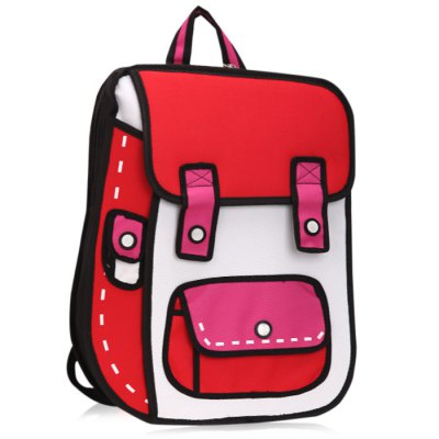Creative Cartoon Comic BackpackStorage Bags<br>Creative Cartoon Comic Backpack<br><br>Type: Backpack<br>Style: Cartoon<br>Functions: Easy to carry, Storage Bag<br>Features: 3D Jump Style 2D Drawing<br>Product weight: 0.800 kg<br>Package weight: 0.840 kg<br>Product size (L x W x H): 49 x 36 x 12 cm / 19.26 x 14.15 x 4.72 inches<br>Package size (L x W x H): 45 x 37 x 5 cm / 17.69 x 14.54 x 1.97 inches<br>Package Contents: 1 x Cartoon Comic Backpack