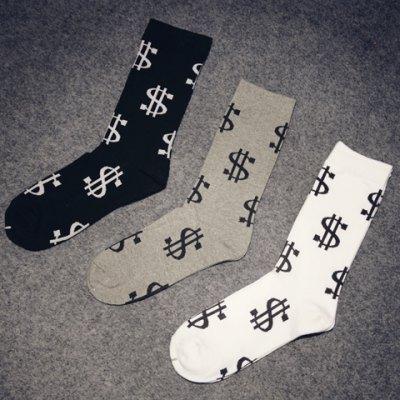 Pair of Stylish Dollar Sign Pattern Socks For MenMens Socks<br>Pair of Stylish Dollar Sign Pattern Socks For Men<br><br>Group: Adult<br>Gender: For Men<br>Sock Type: Casual<br>Pattern Type: Others<br>Material: Polyester<br>Weight: 0.15KG<br>Package Contents: 1 x Socks (Pair)