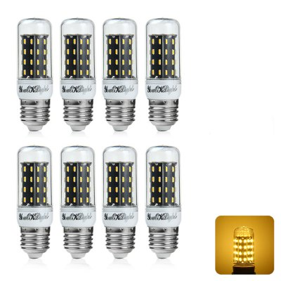 8 x YouOKLight E27 7W 600LM SMD 4014 56 LED Corn Light