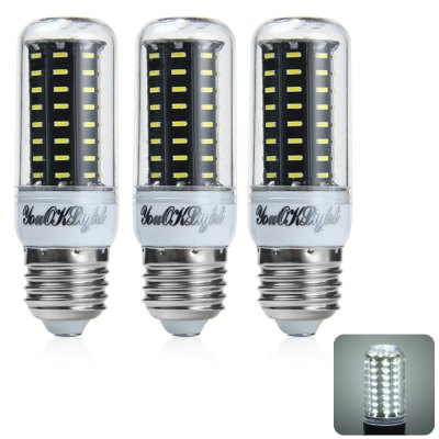 3 x YouOKLight E27 9W 750LM SMD 4014 72 LED Corn Light