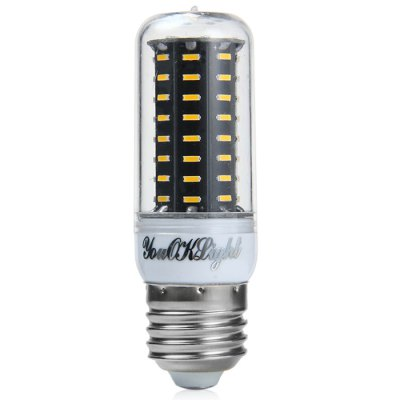 YouOKLight E27 750LM 9W SMD 4014 3000K LED Corn LightLED Light Bulbs<br>YouOKLight E27 750LM 9W SMD 4014 3000K LED Corn Light<br><br>Brand : YouokLight<br>Base Type: E27<br>Type: Corn Bulbs<br>Output Power: 9W<br>Emitter Types: SMD 4014<br>Total Emitters: 72<br>Actual Lumen(s): 750LM<br>CCT/Wavelength: 6500K, 3000K<br>Voltage (V): AC 220-240<br>Angle: 360 degree<br>Features: 80% Brightness, Energy Saving, Long Life Expectancy<br>Function: Studio and Exhibition Lighting, Commercial Lighting, Home Lighting<br>Available Light Color: Warm White, White<br>Sheathing Material: PC, Aluminum<br>Product Weight: 0.090 kg<br>Package Weight: 0.141 kg<br>Product Size (L x W x H): 9.6 x 3.1 x 3.1 cm / 3.77 x 1.22 x 1.22 inches<br>Package Size (L x W x H): 10.6 x 9.3 x 4.1 cm / 4.17 x 3.65 x 1.61 inches<br>Package Contents: 3 x YouOKLight E27 LED Corn Light