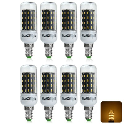 8 x YouOKLight E14 7W 600LM SMD 4014 56 LED Corn Light