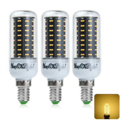 3 x YouOKLight E14 9W 750LM SMD 4014 72 LED Corn Light