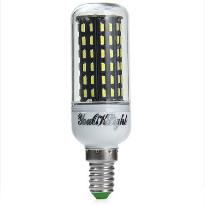 YouOKLight E14 1000LM SMD 4014 12W LED Corn LightLED Light Bulbs<br>YouOKLight E14 1000LM SMD 4014 12W LED Corn Light<br><br>Brand : YouokLight<br>Base Type: E14<br>Type: Corn Bulbs<br>Output Power: 12W<br>Emitter Types: SMD 4014<br>Total Emitters: 96<br>Actual Lumen(s): 1000Lm<br>CCT/Wavelength: 3000K, 6500K<br>Voltage (V): AC 220-240<br>Angle: 360 degree<br>Features: 80% Brightness, Energy Saving, Long Life Expectancy<br>Function: Commercial Lighting, Home Lighting, Studio and Exhibition Lighting<br>Available Light Color: White, Warm White<br>Sheathing Material: PC<br>Product Weight: 0.087 kg<br>Package Weight: 0.138 kg<br>Product Size (L x W x H): 9.6 x 3.1 x 3.1 cm / 3.77 x 1.22 x 1.22 inches<br>Package Size (L x W x H): 10.6 x 9.3 x 4.1 cm / 4.17 x 3.65 x 1.61 inches<br>Package Contents: 3 x YouOKLight E14 LED Corn Light