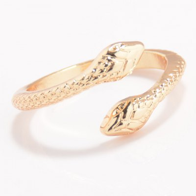 Cute Solid Color Snake Cuff Ring For Women