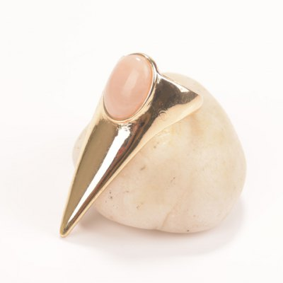 Characteristic Faux Gemstone Pointed Triangle Ring For Women