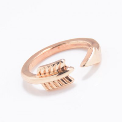 Trendy Solid Color Arrow Cuff Ring