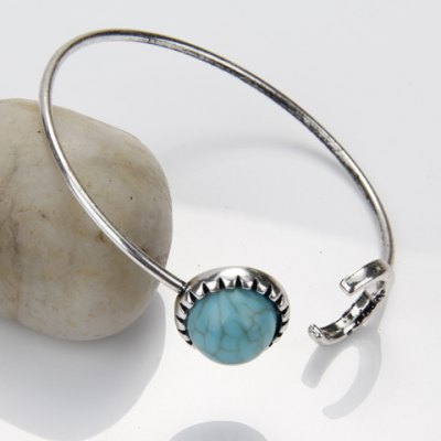 Delicate Turquoise Moon Cuff Bracelet