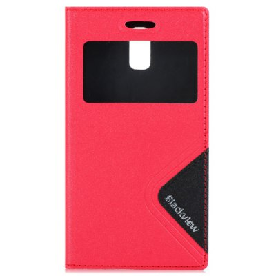 Original Blackview Breeze V2 View Window Leather Protective Case with TPU Back C