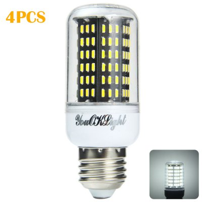 4 x YouOKLight E27 15W 1300Lm SMD 4014 138 LED Corn Light