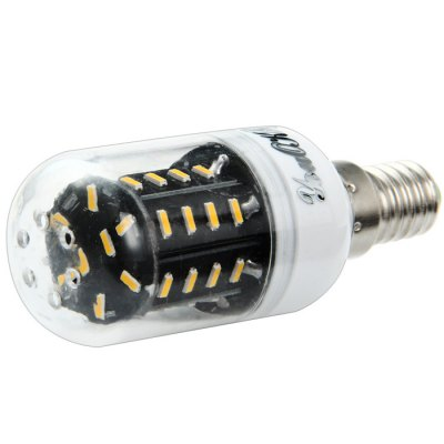 YouOKLight E14 400LM 5W SMD 4014 LED Corn LightLED Light Bulbs<br>YouOKLight E14 400LM 5W SMD 4014 LED Corn Light<br><br>Brand : YouokLight<br>Base Type: E14<br>Type: Corn Bulbs<br>Output Power: 5W<br>Emitter Types: SMD 4014<br>Total Emitters: 36<br>Actual Lumen(s): 400Lm<br>CCT/Wavelength: 3000K, 6500K<br>Voltage (V): AC 110-120<br>Angle: 360 degree<br>Features: Long Life Expectancy, 80% Brightness, Energy Saving<br>Function: Home Lighting, Commercial Lighting, Studio and Exhibition Lighting<br>Available Light Color: Warm White, White<br>Sheathing Material: PC<br>Product Weight: 0.075 kg<br>Package Weight: 0.120 kg<br>Product Size (L x W x H): 8 x 3 x 3 cm / 3.14 x 1.18 x 1.18 inches<br>Package Size (L x W x H): 9 x 9 x 4 cm / 3.54 x 3.54 x 1.57 inches<br>Package Contents: 3 x YouOKLight E14 LED Corn Light