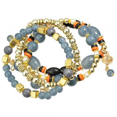 Classic Turquoise Layered Beads Bracelet For WomenBracelets &amp; Bangles<br>Classic Turquoise Layered Beads Bracelet For Women<br><br>Item Type: Strand Bracelet<br>Gender: For Women<br>Chain Type: Beads Bracelet<br>Style: Classic<br>Shape/Pattern: Others<br>Length: 35CM-40CM<br>Weight: 0.08KG<br>Package Contents: 1 x Bracelet
