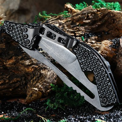 SANJIA K8009 Mechanical Lock Folding Knife