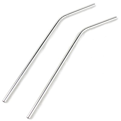 2Pcs Stainless Steel Drinking Straw