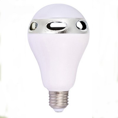 JH101-A E26 / E27 Smart LED BulbSmart Lighting<br>JH101-A E26 / E27 Smart LED Bulb<br><br>Base Type: E26/E27<br>Operating System: Android 2.3 or above and iOS 3.0 or above<br>Power: 3W<br>Current: 0.14A<br>Voltage: AC100-240V<br>Lumen: 500lm - 550lm<br>Bluetooth Version: 2.1<br>Remote Control Distance: 15m<br>Features: Remote Controlled, Loudspeaker, Energy Efficient<br>Function: Home Lighting, Speaker<br>Product Weight: 0.156 kg<br>Package Weight: 0.300 kg<br>Product Size  ( L x W x H ): 14 x 8 x 8 cm / 5.50 x 3.14 x 3.14 inches<br>Package Size ( L x W x H ): 16 x 9 x 9 cm / 6.29 x 3.54 x 3.54 inches<br>Package Contents: 1 x JH101-A Smart LED E27 Bulb