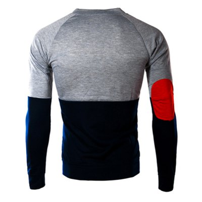 Classic Color Lump Splicing Slimming Round Neck Long Sleeves Mens Vogue T-ShirtMens Long Sleeves Tees<br>Classic Color Lump Splicing Slimming Round Neck Long Sleeves Mens Vogue T-Shirt<br><br>Material: Cotton Blends<br>Sleeve Length: Full<br>Collar: Round Neck<br>Style: Fashion<br>Weight: 0.270KG<br>Package Contents: 1 x T-Shirt<br>Embellishment: Spliced<br>Pattern Type: Solid