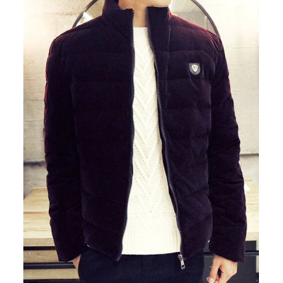 Гаджет   Stand Collar Solid Color Long Sleeve Thicken Men