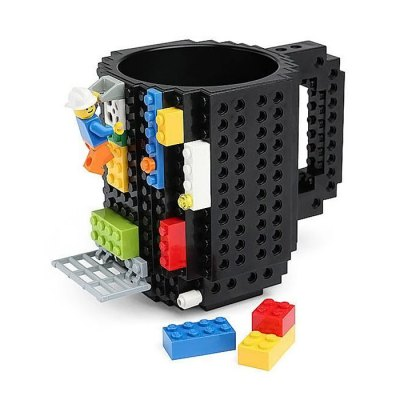 Build-On Brick Unique Mug Coffee Cup Creative DIY Blocks 2589