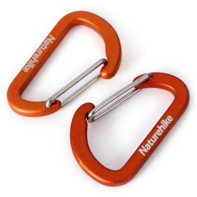 NatureHike 2pcs D-shaped Durable Carabiner ( 4cm )