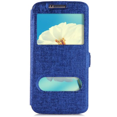 Гаджет   Phone Protective PU Cover Case for Samsung S6 Edge Two View Window with Holder Function Samsung Cases/Covers