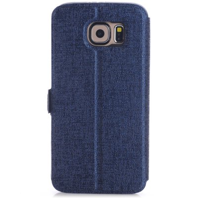 Phone Protective PU Cover Case for Samsung S6 Two View Window with Holder FunctionSamsung Cases/Covers<br>Phone Protective PU Cover Case for Samsung S6 Two View Window with Holder Function<br><br>For: Samsung Mobile Phone<br>Compatible for Sumsung: Galaxy S6 G9200<br>Features: Cases with Stand, With View Window, Full Body Cases<br>Material: PU Leather, TPU<br>Style: Solid Color, Novelty<br>Color: Gold, Black, White, Red, Blue, Brown<br>Functions: Camera Hole Location<br>Product weight: 0.040 kg<br>Package weight: 0.110 kg<br>Product size (L x W x H) : 14.8 x 7.6 x 1.2 cm / 5.82 x 2.99 x 0.47 inches<br>Package size (L x W x H): 17.7 x 10 x 2 cm / 6.96 x 3.93 x 0.79 inches<br>Package Contents: 1 x Case