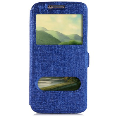 Гаджет   Phone Protective PU Cover Case for Samsung S6 Two View Window with Holder Function Samsung Cases/Covers