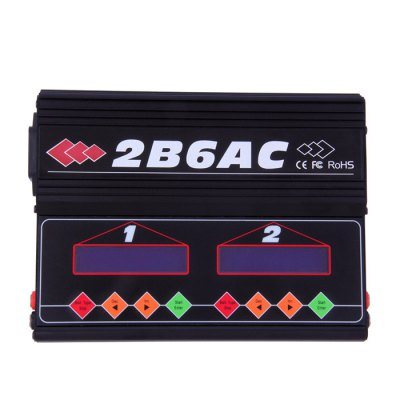 Spare 2B6AC Balance Charger for Multicopter RotorMulti Rotor Parts<br>Spare 2B6AC Balance Charger for Multicopter Rotor<br><br>Type: Balance Charger<br>Package weight: 1.25 kg<br>Product size (L x W x H) : 26 x 21 x 5.5 cm / 10.22 x 8.25 x 2.16 inches<br>Package size (L x W x H): 26.5 x 21.5 x 6 cm / 10.41 x 8.45 x 2.36 inches<br>Package Contents : 1 x Balance Charger Set