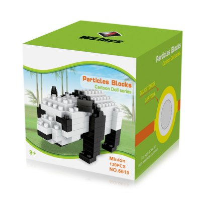 WLtoys 130 Pcs Panda Building Block 6615 IQ Training