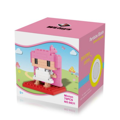 WLtoys 70 Pcs Girl Building Block 6631 IQ TrainingBlock Toys<br>WLtoys 70 Pcs Girl Building Block 6631 IQ Training<br><br>Product Model: 6631<br>Type: Building Blocks<br>Age: 9 Years+<br>Material: ABS<br>Design Style: Figure Statue<br>Features: Educational<br>Puzzle Style: 3D Puzzle<br>Small Parts : Yes<br>Washing: Yes<br>Applicable gender: Unisex<br>Package weight: 0.040 KG<br>Package size (L x W x H): 7.00 x 7.00 x 7.00 cm / 2.76 x 2.76 x 2.76 inches<br>Package Contents: 70 x Block
