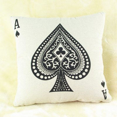 Fashion Spade A Pattern Square Decorative Pillowcase (Without Pillow Inner)