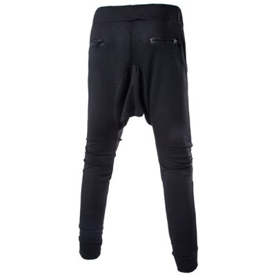 Lace-Up Solid Color Low-Crotch Beam Feet Zipper Design Splicing Mens PantsMens Pants<br>Lace-Up Solid Color Low-Crotch Beam Feet Zipper Design Splicing Mens Pants<br><br>Style: Active<br>Material: Cotton, Polyester<br>Fit Type: Regular<br>Waist Type: Mid<br>Front Style: Flat<br>Weight: 0.440KG<br>Pant Length: Long Pants<br>Pant Style: Pencil Pants<br>Package Contents: 1 x Pants