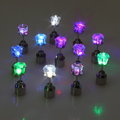 Bling Bling Acrylic LED Earring StudsLED Strips<br>Bling Bling Acrylic LED Earring Studs<br><br>Optional color: White, Colorful, Green, Blue, Purple<br>Material: Acrylic<br>Product weight: 0.004 kg<br>Package weight: 0.020 kg<br>Product size (L x W x H): 2 x 0.7 x 0.7 cm / 0.79 x 0.28 x 0.28 inches<br>Package size (L x W x H): 8 x 6 x 3 cm / 3.14 x 2.36 x 1.18 inches<br>Package Contents: 1 Pair of LED Earring