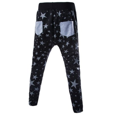 Lace-Up Stars Print Beam Feet Slimming Mens PantsMens Pants<br>Lace-Up Stars Print Beam Feet Slimming Mens Pants<br><br>Style: Active<br>Material: Polyester, Cotton<br>Fit Type: Regular<br>Waist Type: Mid<br>Closure Type: Drawstring<br>Front Style: Flat<br>Weight: 0.450KG<br>Pant Length: Long Pants<br>Pant Style: Pencil Pants<br>Package Contents: 1 x Pants