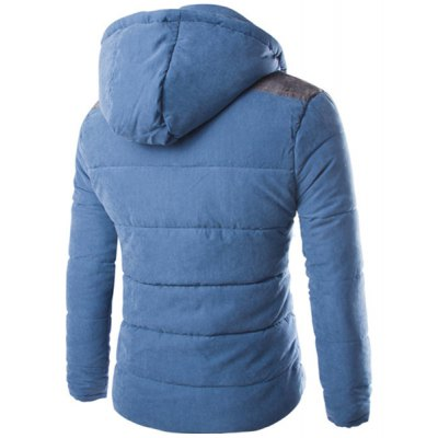Hooded Long Sleeve Color Block Splicing Thicken Mens Cotton JacketMens Jakets &amp; Coats<br>Hooded Long Sleeve Color Block Splicing Thicken Mens Cotton Jacket<br><br>Clothes Type: Down &amp; Parkas<br>Material: Cotton, Polyester<br>Collar: Hooded<br>Clothing Length: Regular<br>Style: Fashion<br>Weight: 0.770KG<br>Sleeve Length: Long Sleeves<br>Season: Winter<br>Package Contents: 1 x Jacket