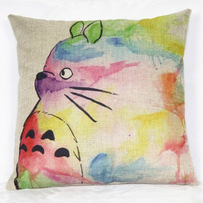 Classical Cat Pattern Linen Decorative Pillowcase(Without Pillow Inner)