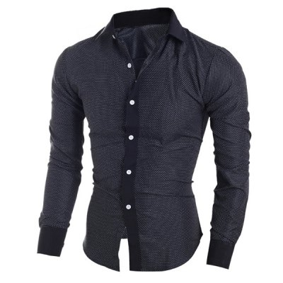 Classical Turn-Down Collar Long Sleeve Slimming Little Polka Dot Mens ShirtMens Shirts<br>Classical Turn-Down Collar Long Sleeve Slimming Little Polka Dot Mens Shirt<br><br>Shirts Type: Casual Shirts<br>Material: Polyester, Cotton<br>Sleeve Length: Full<br>Collar: Turn-down Collar<br>Weight: 0.230KG<br>Package Contents: 1 x Shirt