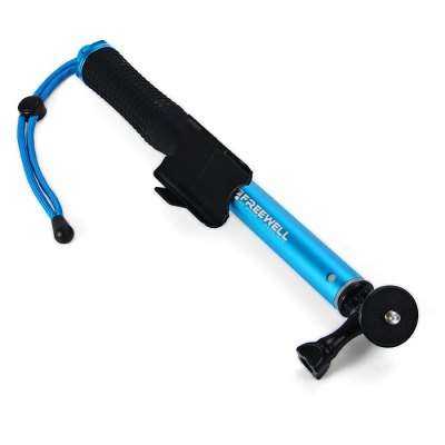 32 - 74cm Telescope Twist Lock Monopod PoleOther Camping Gadgets<br>32 - 74cm Telescope Twist Lock Monopod Pole<br><br>Type: Other Camping Gear<br>Material: Aluminum alloy, Plastic<br>Color: Red, Black, Blue<br>Product weight   : 0.157 kg<br>Package weight   : 0.260 kg<br>Product size (L x W x H)   : 32 x 3 x 3 cm / 12.58 x 1.18 x 1.18 inches<br>Package size (L x W x H)  : 34 x 6 x 5.5 cm / 13.36 x 2.36 x 2.16 inches<br>Package Contents: 1 x Freewell Selfie Pole, 1 x Mount, 1 x Thumb Screw, 1 x Mount Adapter, 1 x Wrist Strap
