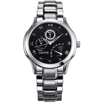 NEOS N30724M Men Quartz WatchMens Watches<br>NEOS N30724M Men Quartz Watch<br><br>Brand: NEOS<br>Watches categories: Male table<br>Watch style: Fashion<br>Watch color: Silver and White, Silver and Black, Golden and White, Golden, Black, Black and White, Brown, Rose Gold and Black, Rose Gold and Brown, White<br>Movement type: Quartz watch<br>Shape of the dial: Round<br>Surface material: Sapphire<br>Display type: Analog<br>Hour formats: 24 Hour<br>Case material: Stainless steel<br>Band material: Stainless steel<br>Clasp type: Butterfly clasp<br>Special features: Day, Date, Moving small three stitches<br>Water Resistance: 30 meters<br>The dial thickness: 1.0 cm / 0.63 inches<br>The dial diameter: 4.3 cm / 1.69 inches<br>Product weight: 0.110 kg<br>Package weight: 0.23 kg<br>Product size (L x W x H): 16 x 4.3 x 1 cm / 6.29 x 1.69 x 0.39 inches<br>Package size (L x W x H): 12 x 10 x 8 cm / 4.72 x 3.93 x 3.14 inches<br>Package Contents: 1 x NEOS N30724M Watch