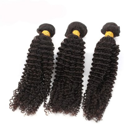 3pcs / lot Unprocessed Virgin Hair Brazilian Kinky Curly Extension Human Hair WeaveHair Weaves<br>3pcs / lot Unprocessed Virgin Hair Brazilian Kinky Curly Extension Human Hair Weave<br><br>Type: Human Hair Weaves<br>Hair Grade: 6A Virgin Hair<br>Source: Brazilian Hair<br>Material: Human Hair<br>Style: Kinky Curly<br>Chemical Processing: None<br>Hair Weft: Machine Double Weft<br>Hair Quality: Virgin Hair<br>Suitable Dying Colors: All Colors<br>Color: Natural Black<br>Color Type : Pure Color<br>Can Be Permed: Yes<br>Weight: 0.34KG<br>Package Contents: 3pcs