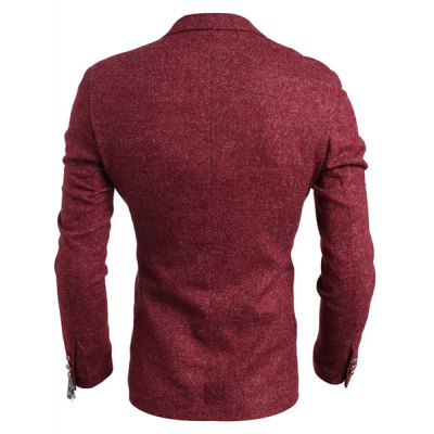 Гаджет   Slimming Lapel Solid Color Long Sleeve Single Breasted Men