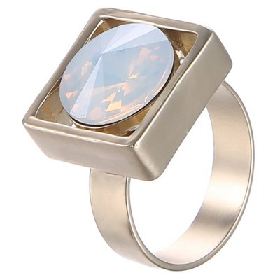 Faux Gemstone Square Ring For Women
