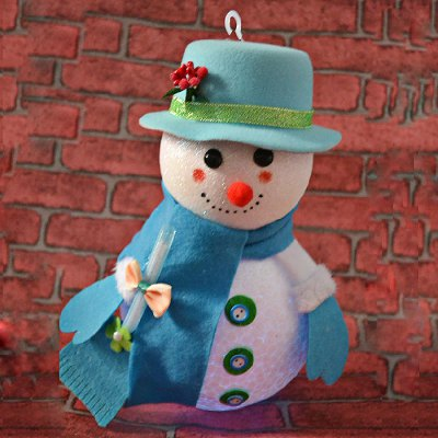 Гаджет   LED Snowman Christmas Gifts Tree Shop Decoration