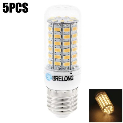 5 x BRELONG E27 15W 69 SMD 5730 1200Lm LED Corn Bulb