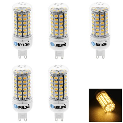 5 x BRELONG G9 15W 69 SMD 5730 1200Lm LED Corn Bulb