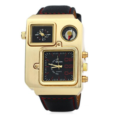 Oulm 9941 Compass Function Dual Movt Male Japan Quartz WatchMens Watches<br>Oulm 9941 Compass Function Dual Movt Male Japan Quartz Watch<br><br>Brand: Oulm<br>Watches categories: Male table<br>Watch style: Fashion<br>Available color: Brown, Black, White, Red, Blue<br>Movement type: Quartz watch<br>Shape of the dial: Rectangle<br>Display type: Analog<br>Case material: Stainless steel<br>Band material: Leather<br>Clasp type: Pin buckle<br>Special features: Compass<br>The dial thickness: 1.0 cm / 0.39 inches<br>The dial diameter: 4.2 cm / 1.65 inches<br>The band width: 2.4 cm / 0.94 inches<br>Wearable length: 17.5 - 23.5 cm / 6.89 - 9.25 inches<br>Product weight: 0.108 kg<br>Package weight: 0.158 kg<br>Product size (L x W x H): 27.5 x 4.2 x 1 cm / 10.81 x 1.65 x 0.39 inches<br>Package size (L x W x H): 28.5 x 5.2 x 2 cm / 11.20 x 2.04 x 0.79 inches<br>Package contents: 1 x Oulm 9941 Watch