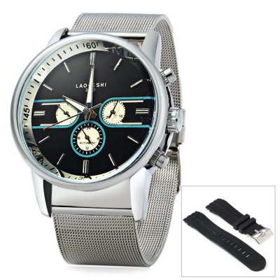 Laogeshi 398B Men Automatic Mechanical Watch Date Day Display