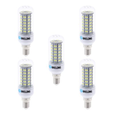5 x BRELONG 10W E14 1000Lm 60 SMD 5730 LED LED Corn LightLED Light Bulbs<br>5 x BRELONG 10W E14 1000Lm 60 SMD 5730 LED LED Corn Light<br><br>Brand : BRELONG<br>Base Type: E27, E14<br>Type: Corn Bulbs<br>Output Power: 10W<br>Emitter Types: SMD 5730<br>Total Emitters: 60<br>Luminous Flux: 1000Lm<br>CCT/Wavelength: 6000-6500K, 3000-3500K<br>Voltage (V): AC 85-265/50-60Hz<br>Features: Long Life Expectancy, Low Power Consumption<br>Available Light Color: White, Warm White<br>Product Weight: 0.160 kg<br>Package Weight: 0.240 kg<br>Product Size (L x W x H): 9.7 x 3 x 3 cm / 3.81 x 1.18 x 1.18 inches<br>Package Size (L x W x H): 10.7 x 9.9 x 6.6 cm / 4.21 x 3.89 x 2.59 inches<br>Package Contents: 5 x BRELONG 10W LED Corn Bulb